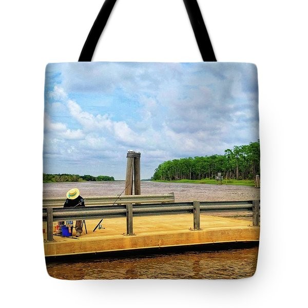 Too Hot To Fish Tote Bag