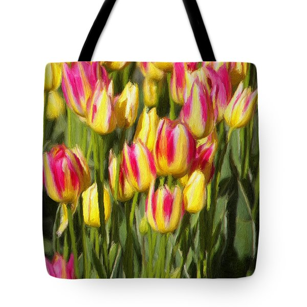 Too Many Tulips Tote Bag by Jeffrey Kolker