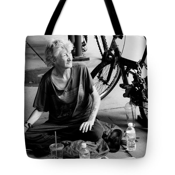 Tote Bag featuring the photograph Too Much Homelessness by Monte Stevens