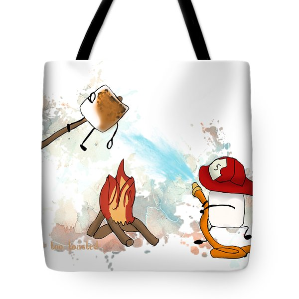 Too Toasted Illustrated Tote Bag by Heather Applegate