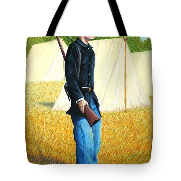 Tote Bag featuring the painting Too Young by Stacy C Bottoms