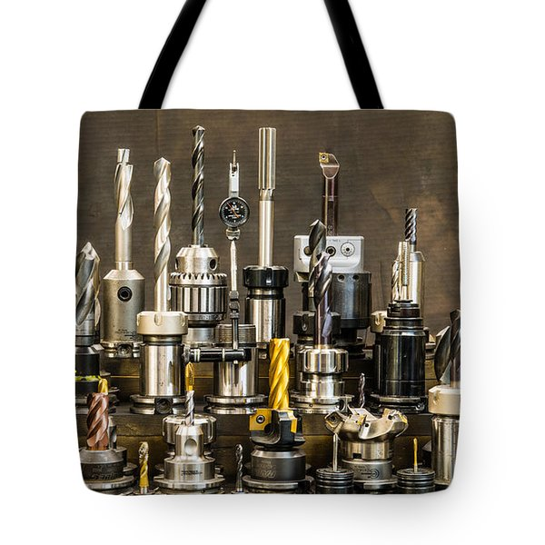 Toolmakers Cutting Tools Tote Bag by Paul Freidlund