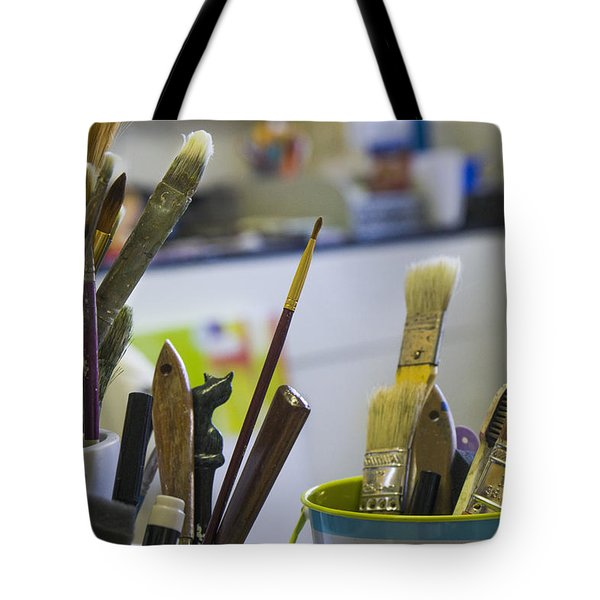 Tools Of The Trade Tote Bag by Steve Gravano