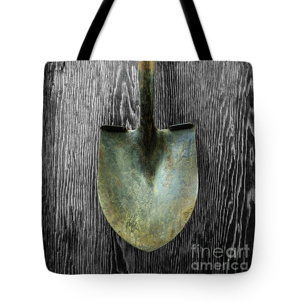 Tote Bag featuring the photograph Tools On Wood 15 On Bw by YoPedro