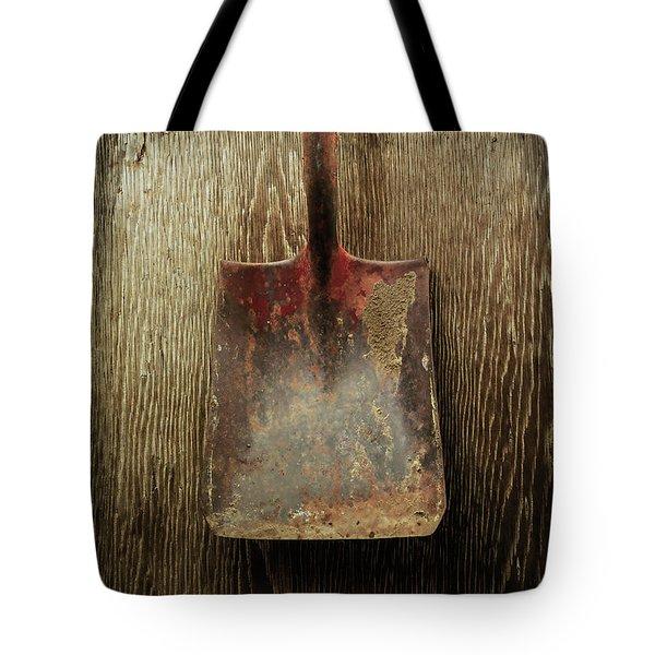 Tools On Wood 3 Tote Bag by Yo Pedro