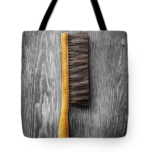 Tote Bag featuring the photograph Tools On Wood 52 On Bw by YoPedro