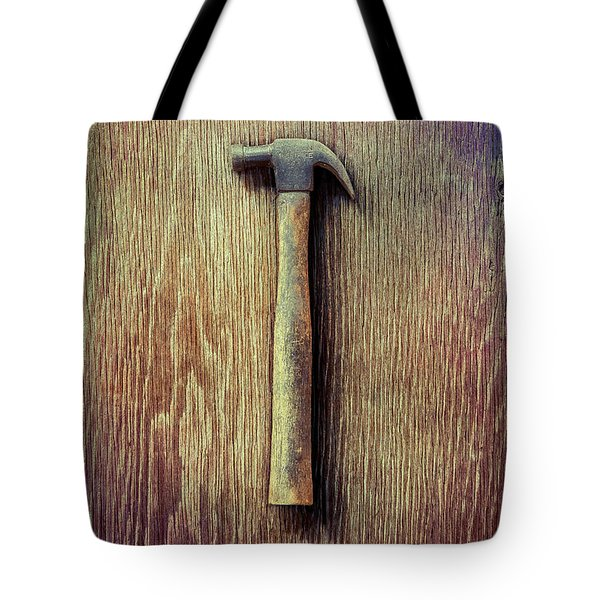 Tools On Wood 53 Tote Bag