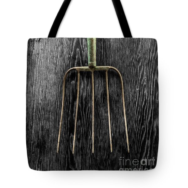 Tote Bag featuring the photograph Tools On Wood 7 On Bw by YoPedro