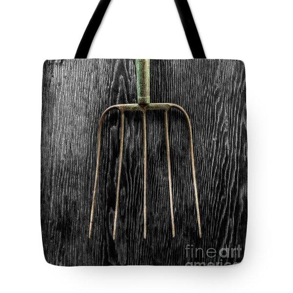Tools On Wood 7 On Bw Tote Bag