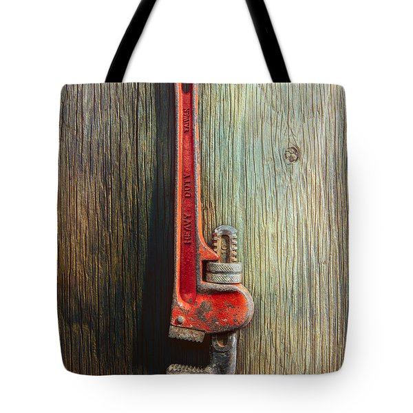 Tools On Wood 70 Tote Bag