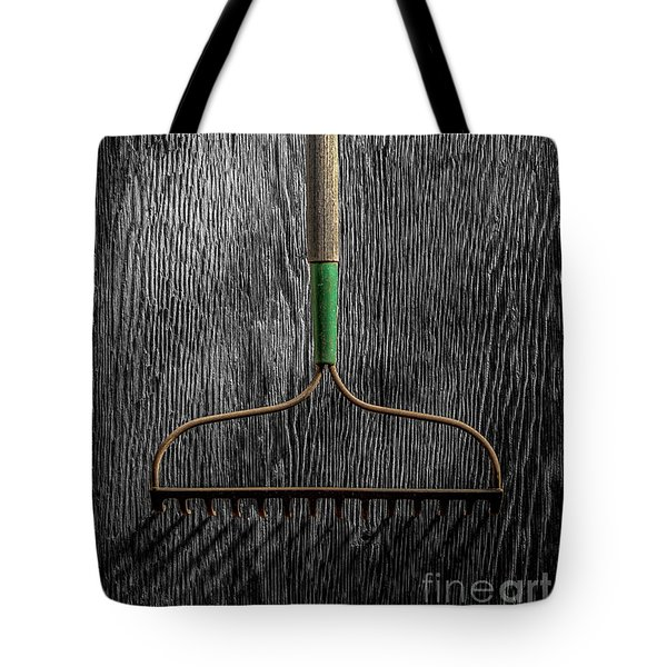 Tote Bag featuring the photograph Tools On Wood 8 On Bw by YoPedro