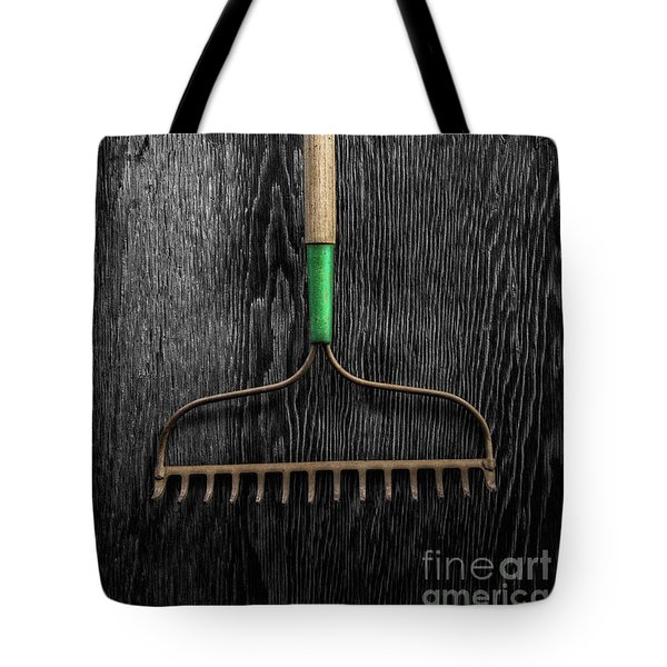 Tote Bag featuring the photograph Tools On Wood 9 On Bw by YoPedro
