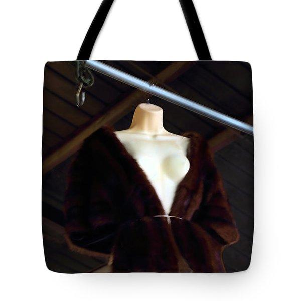 Top Fur Coat Tote Bag