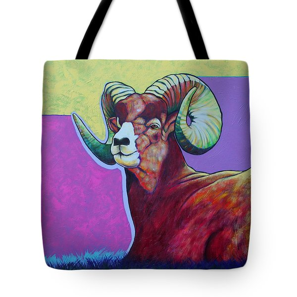 Top Heavy Big Horn Tote Bag by Joe  Triano