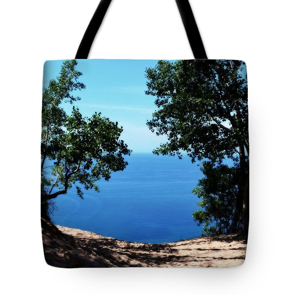 Top Of The Dune At Sleeping Bear Ll Tote Bag
