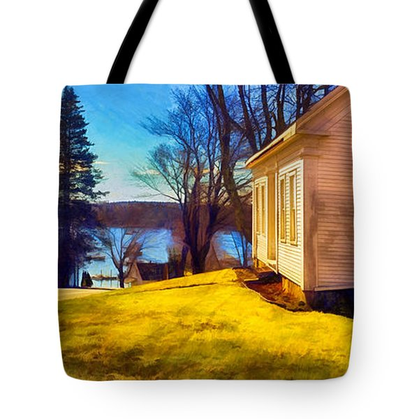 Top Of The Hill, Friendship, Maine Tote Bag by Dave Higgins
