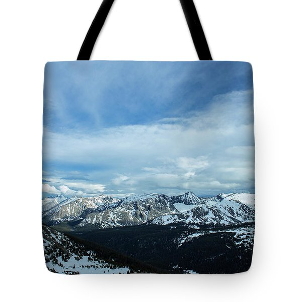 Tote Bag featuring the photograph Top Of The Rockies by Tyson Kinnison
