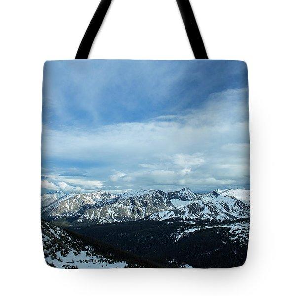 Top Of The Rockies Tote Bag