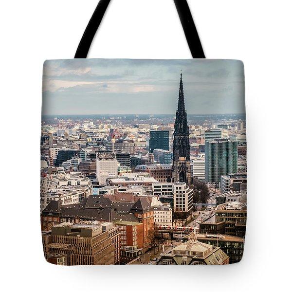 Top View Of Hamburg Tote Bag