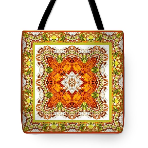 Topaz And Peridot Bling Kaleidoscope Tote Bag
