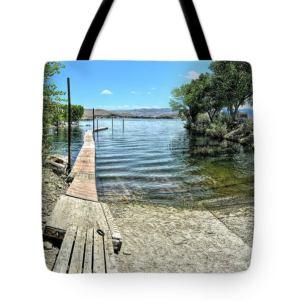 Topaz Landing Boat Launch Tote Bag
