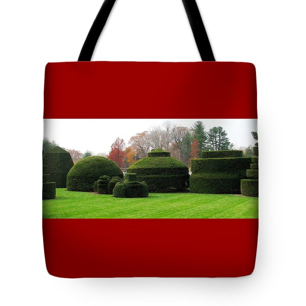 Topiary Garden Tote Bag by Angela Davies