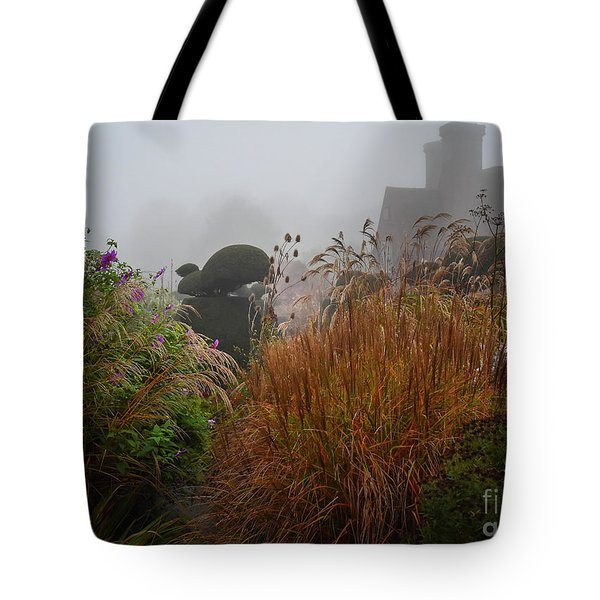 Topiary Peacocks In The Autumn Mist, Great Dixter 2 Tote Bag
