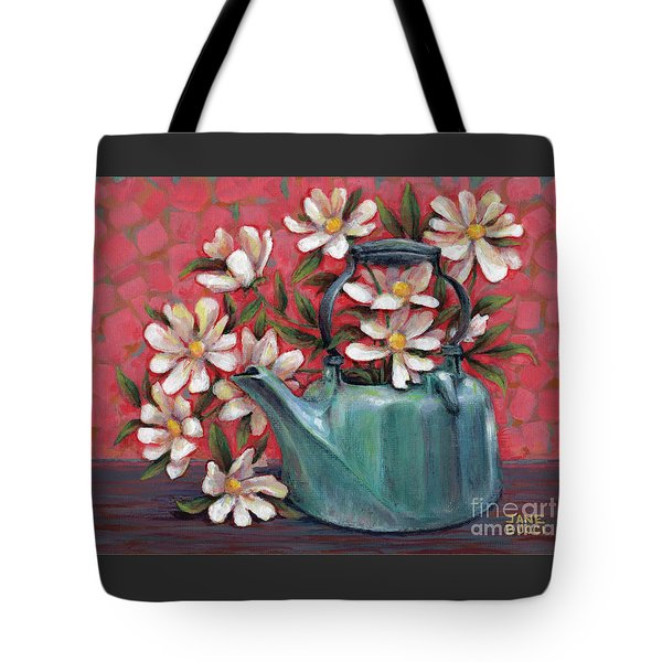 Topless With Daisies Tote Bag