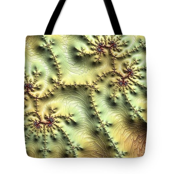 Topo Fractal Tote Bag by Ron Bissett