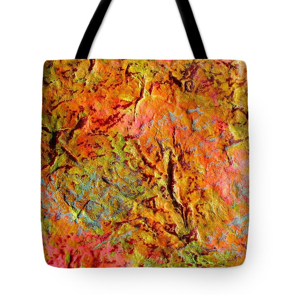 Topographical Map Color Poem Tote Bag