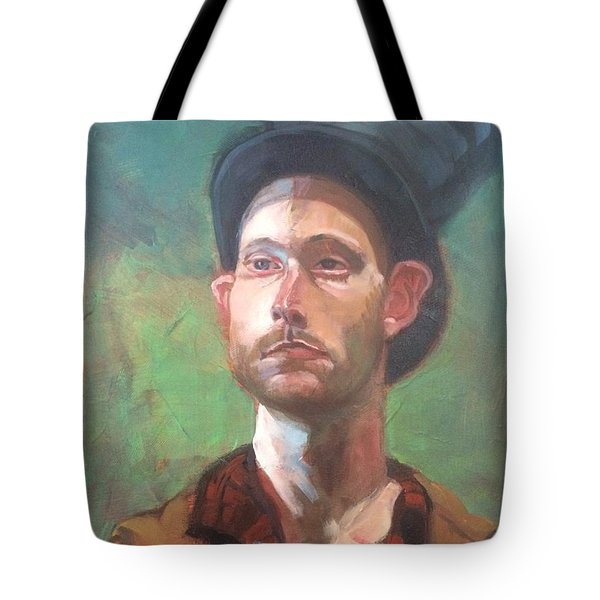Tote Bag featuring the painting Topper by JaeMe Bereal
