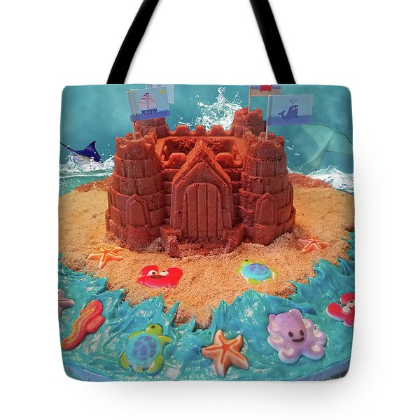 Topsail Island Castle Cake Tote Bag