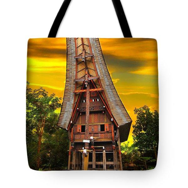 Toraja Architecture Tote Bag