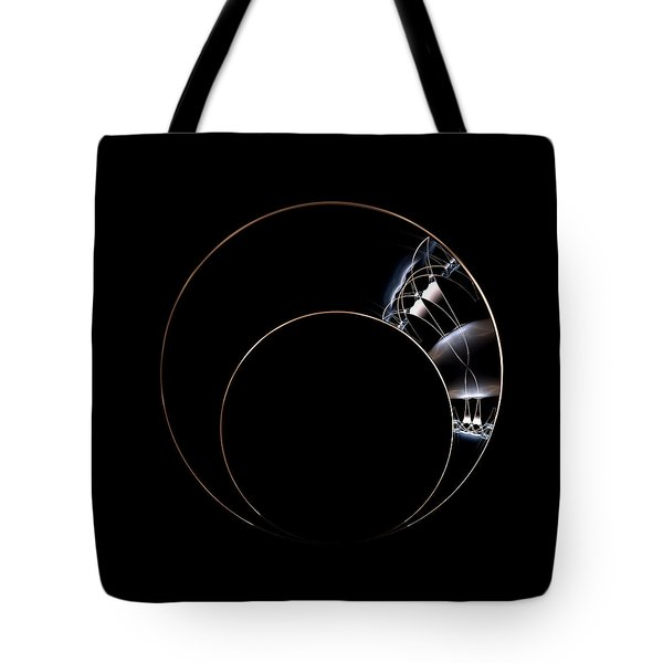 Tote Bag featuring the digital art Torc by Lea Wiggins