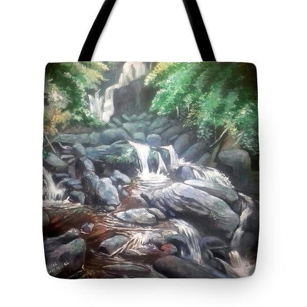 Torc Waterfall County Kerry Ireland Tote Bag by Paul Weerasekera