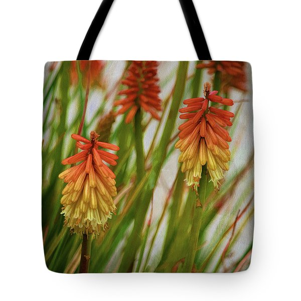 Torch Lily At The Beach Tote Bag