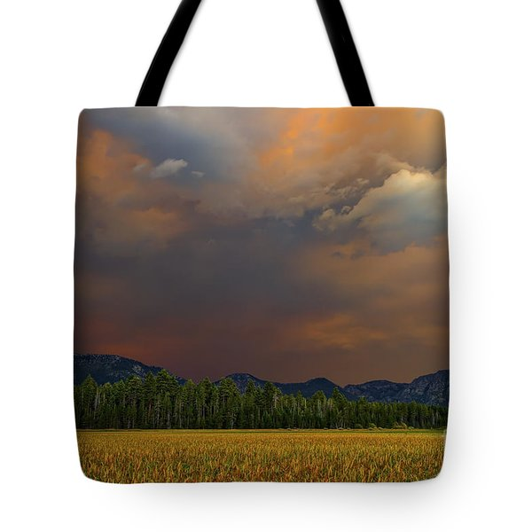 Tormented Sky Tote Bag by Mitch Shindelbower