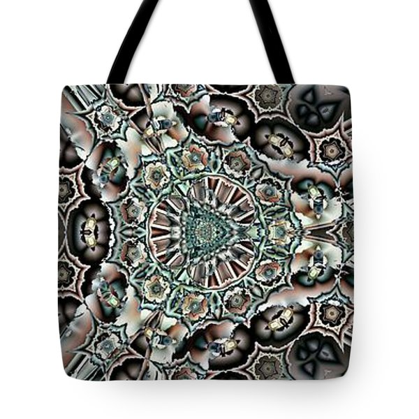 Torn Patterns Tote Bag by Ron Bissett