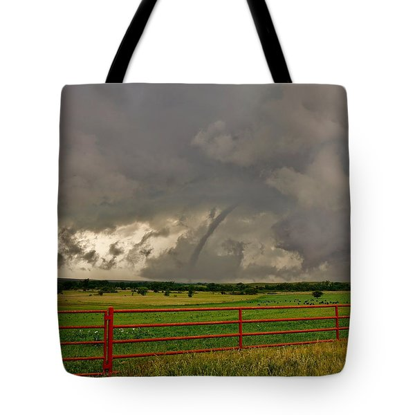 Tote Bag featuring the photograph Tornado At The Ranch by Ed Sweeney