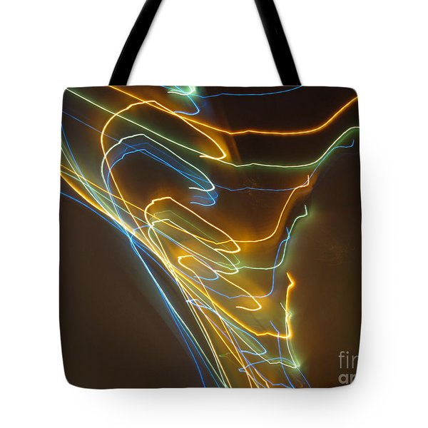 Tote Bag featuring the photograph Tornado Of Lights. Dancing Lights Series by Ausra Huntington nee Paulauskaite