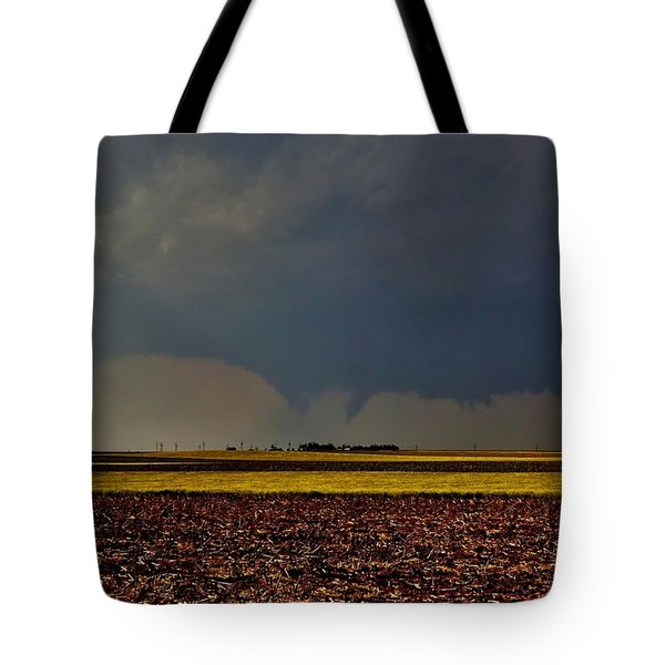 Tote Bag featuring the photograph Tornadoes Across The Fields by Ed Sweeney
