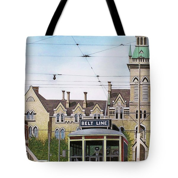 Tote Bag featuring the painting Toronto Belt Line by Kenneth M Kirsch