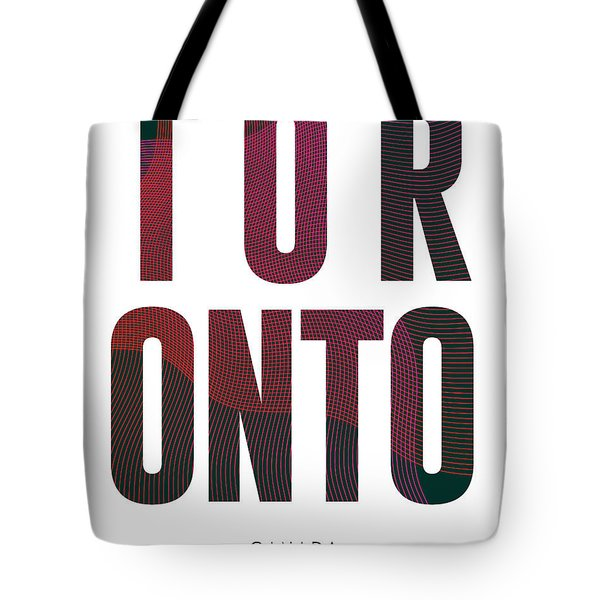 Toronto, Canada - City Name Typography - Minimalist City Posters Tote Bag