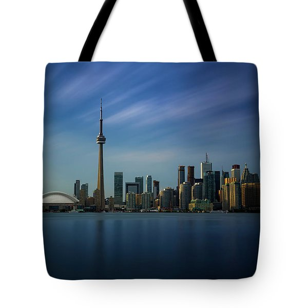 Toronto Cityscape Tote Bag by Ian Good