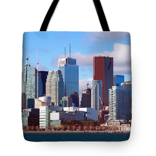 Tote Bag featuring the photograph Toronto Core by Valentino Visentini