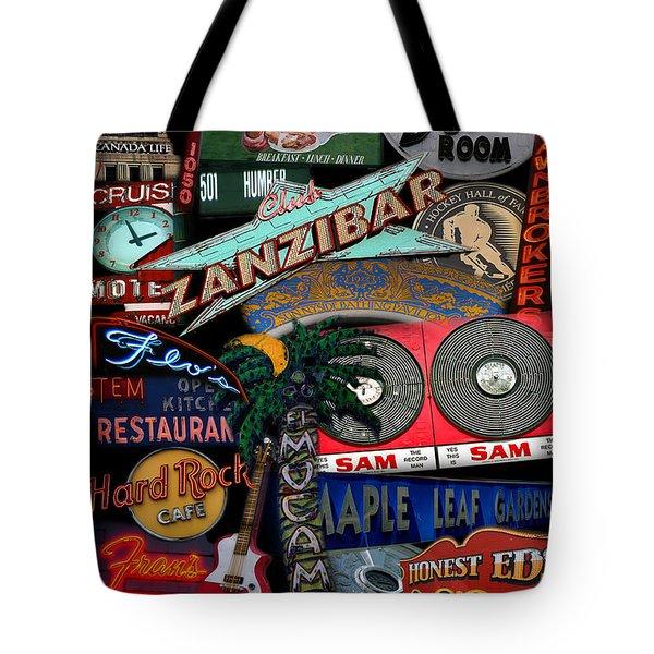 Toronto Neon Tote Bag by Andrew Fare