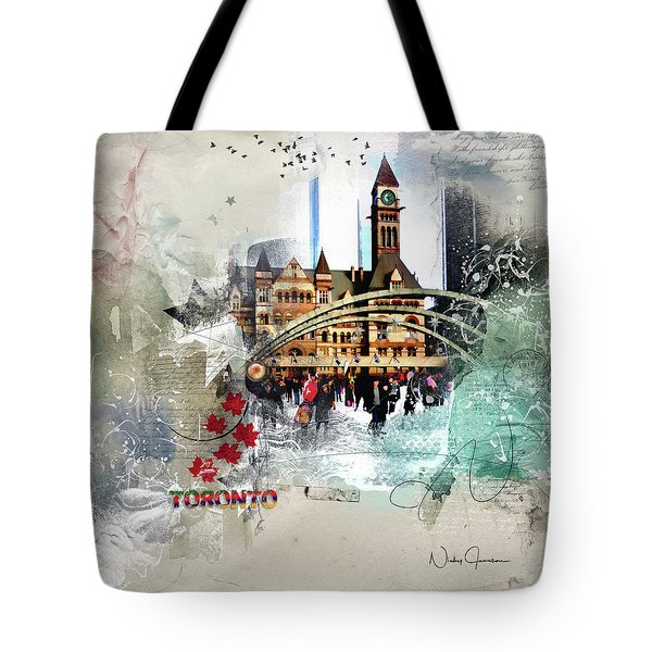 Toronto Skating Tote Bag