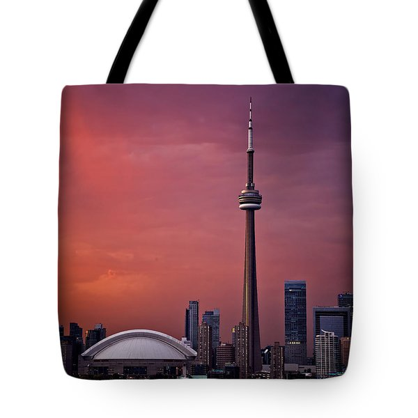 Toronto Sunset Tote Bag