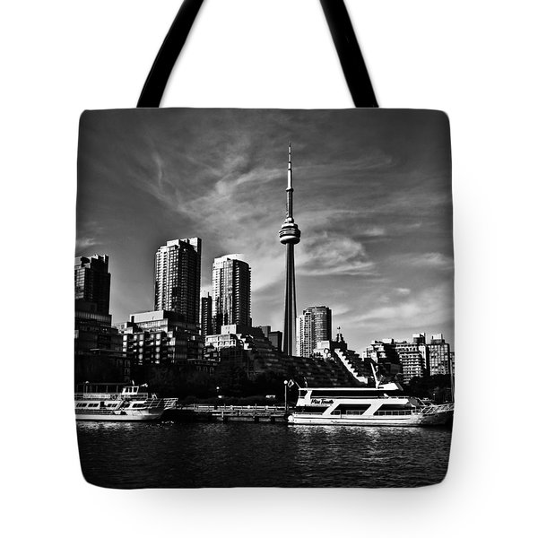 Toronto West Skyline Tote Bag by Brian Carson