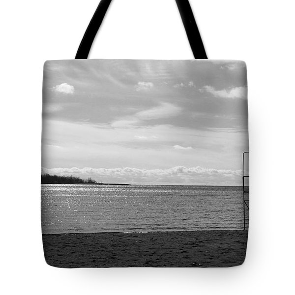 Tote Bag featuring the photograph Toronto Winter Beach by Valentino Visentini